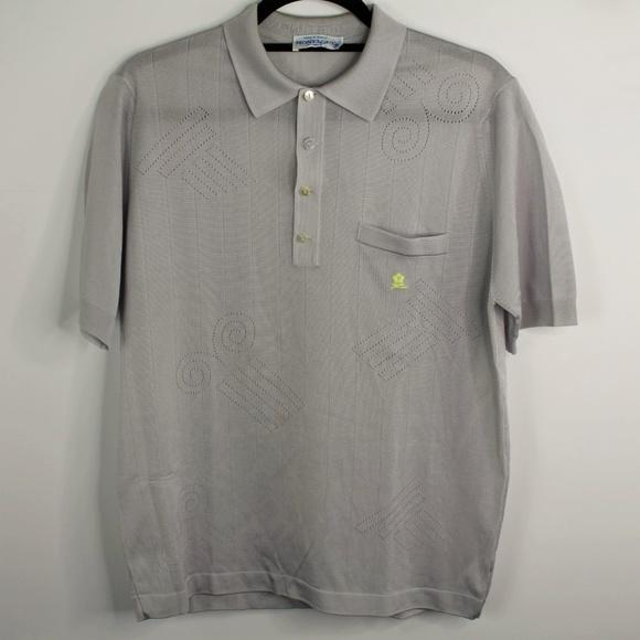 199f34dcec0a2 Montagut Polyamide Polo Shirt Size 4 Grey Yellow